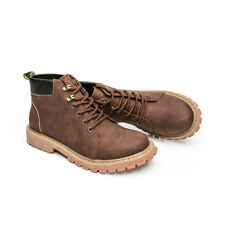 Men's Ankle Boots New Winter Outdoor Martin Boots Leather Lace Up Non-slip a24