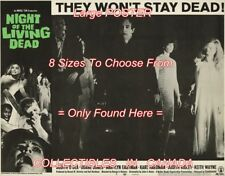 """NIGHT OF THE LIVING DEAD 1968 Walking Dead ZOMBIES 2 = POSTER 8 SIZES 18"""" - 36"""""""