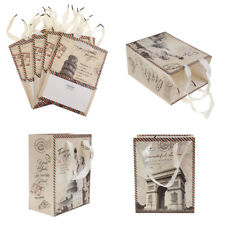 5pcs Paper Landscape Gift Bags Carry Party Bags Wedding Party Accessories