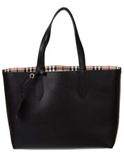 Burberry Bag % CALF LEATHER TOTE DOUBLE FACE MADE IN ITALY Woman Black 4049635-