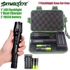 Tactical 20000LM 5 Modes T6 LED Torch Flashlight Light &18650Battery &Charger Y1