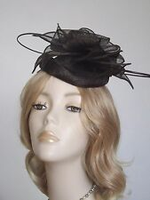 FAILSWORTH CHOCOLATE BROWN SINAMAY PILLBOX  HATS, With quills,Brand new