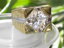k2W055PB  MANS SIMULATED DIAMOND SOLITAIRE  MENS RING ALL SIZES SIGNET PINKY