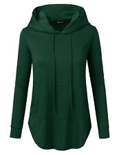 Doublju Loose Fit Pullover Hoodie With Kangaroo Pocket For Womens With Plus Size