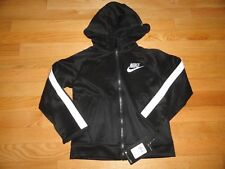 Nike Boys Hoodie Sweatshirt Black White Full Zip Hoody 4 6 7 NWT