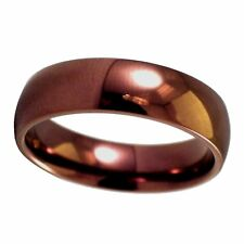 Coffee Tone Casual Fashion Ring 316L Stainless Steel Wedding Band Size 3-16