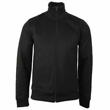 FRED PERRY TRACKSUIT TOP TONAL TAPED MENS BLACK TRACK TOP