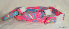 "SALE**Lilly Pulitzer ""Palm Beach Coral"" print Handcrafted Dog Collar -S/M/L- New"