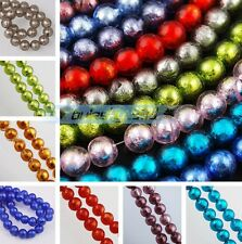 10pcs 10mm Round Foil Inside Lampwork Glass Loose Spacer Beads DIY Findings