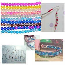 Lots Crackle Lampwork Glass Round Beads Jewelry Craft Making, 8mm 1.3mm Hole