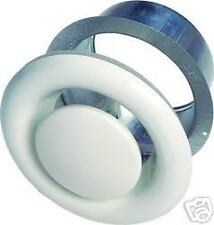 """8"""" 200mm White Metal Air Valves for Extractor Fans, Ducting, Ceiling Grille Vent"""