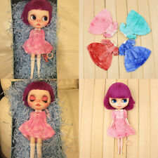 4 Colors Lovely Short Sleeve Dress Skirt Clothes for 1/6 Blythe Doll Outfit