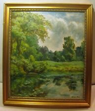 HELEN FARR SLOAN Cloudy Sky Landscape DELAWARE - NYC Wife of John LISTED Oil