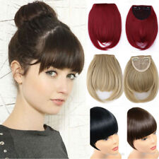 Synthetic Hair Natural Hair Extension Clip In Front Hair Bangs Fringe for Women