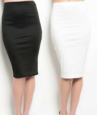 Stretch Fitted Knee Length Sexy Wiggle BodyconPencilSkirt S M L
