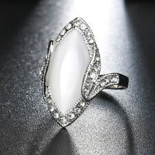 Women Marquise Cut Artificial Stone Shiny Rhinestone Finger Ring Jewelry Rapture