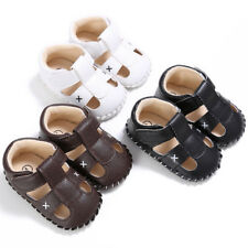 New Baby Infant Boy Sandals Summer 0-18M Kids Walking Shoes Soft Sole Crib Shoes