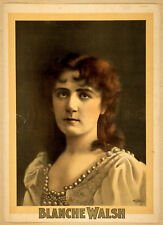 Photo Print Vintage Poster: Theatre Flyer 1800s Blanche Walsh 01