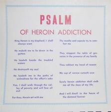 Psalm of Heroin Addicition Anti Drug Anti Addiction Poster Dominguez Compton