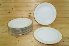 Meito China White / Cream with Gold Trim (9) Dinner Plates | Japan