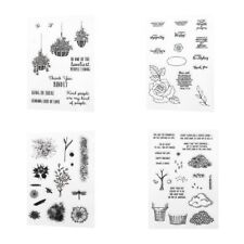 Transparent Clear Silicone Stamp Seal for DIY Scrapbooking Album Card Decor