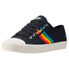 Gola Coaster Rainbow Womens Black Multicolour Canvas Trainers
