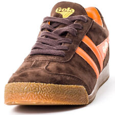 Gola Harrier Unisex Brown Orange Suede Trainers