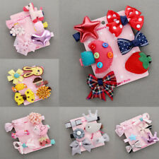 6Pcs/set Hairpin Baby Girl Hair Clip Bow Flower Mini Barrettes Kids Infant Clips