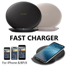 Qi Wireless Fast Charger Charging Stand Dock Pad For iPhone X Samsung Galaxy S9
