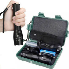 Camping Tactical G700 Flashlight T6 5Modes Zoom Torch + High 18650 Battery Box