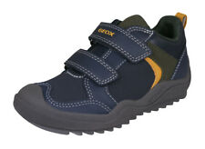 Geox J Artach B.A. Boys Casual Sneakers Double Strap Closure Shoes Navy
