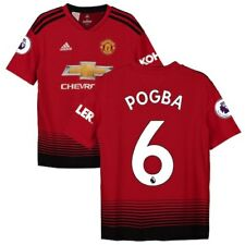 adidas Paul Pogba Manchester United Youth Red 2018/19 Home Replica Player Jersey