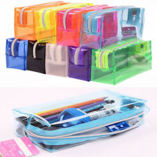 Students Zipper Bag Stationery Pencil Storage Bag Soft Cosmetic Bag School Cases