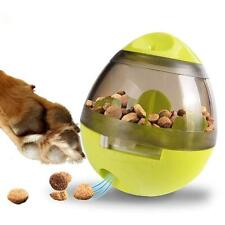 Egg Shape Tumbler Pet Food Dispenser Dog Cat Toy Pet Training Interactive Ball