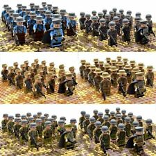 21pcs/set WW2 Military Soldiers France US Britain Italy Army Building Block toy