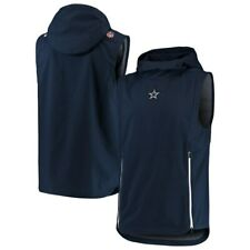 Nike Men's Dallas Cowboys NFL Football Fly Rush Performance Pullover Hoodie Vest