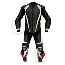 BLACK PRO ONE PIECE MEN MOTORCYCLE LEATHER RACING SUIT LEATHER RACING XO SUIT