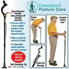 Campbell Posture Cane Elderly Walking Cane With Adjustable Heights Telescopic