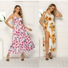 Floral Maxi Cocktail Women Summer Dress Party Sundress Boho Holiday Long Beach