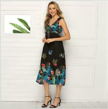 Sundress Evening Maxi Women Cocktail Beach Summer Party Dress Boho Long Floral