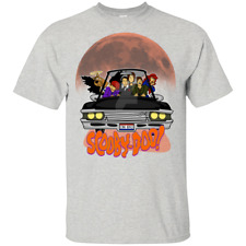 Scooby-Doo and Impala Baby Supernatural Castiel T-Shirt Funny MEN White S-5XL
