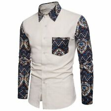 Dress shirt luxury stylish t-shirt tops long sleeve casual men's floral formal