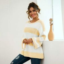 Knit Shirt Sweater Knitwear Long Sleeve Knitted Casual Tops Jumper T-Shirt Loose