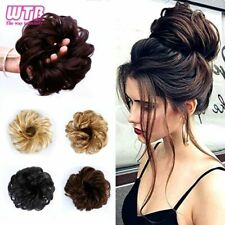 Women Curly Chignon Hair Clip In Hairpiece Synthetic Extensions Bun Bride Ballet