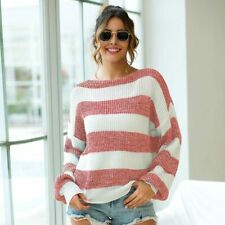 Knit Shirt Sweater Jumper Loose Casual Pullover Womens Long Sleeve Tops Knitwear