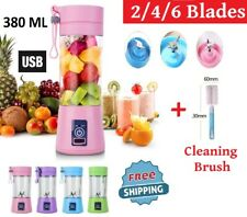 380ML 2/4/6 Blades USB Handheld Juicer Blender Bottle Portable Fruit Smoothie