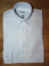 BOYS regular collar white dress school shirt wedding BN
