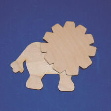 LION WITH MANE Unfinished Wood Shapes Cut Outs LM5804