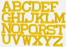 Iron on Embroidered Alphabet Letters YELLOW your choice