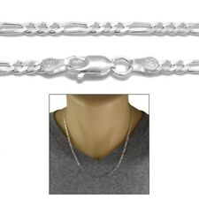 Sterling Silver FIGARO LINK chain necklace 3mm 080